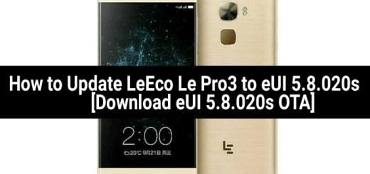 Update LeEco Le Pro3 to eUI 5.8.020s