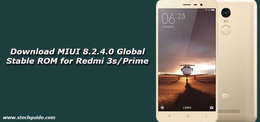 Download MIUI 8.2.4.0 Global Stable ROM for Redmi 3s/Prime