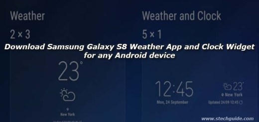 Download Samsung Galaxy S8 Weather App and Clock Widget for any Android device
