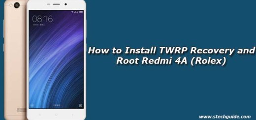 How to Install TWRP Recovery and Root Redmi 4A (Rolex)