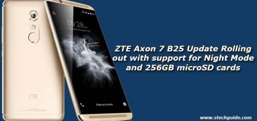 ZTE Axon 7 B25 Update