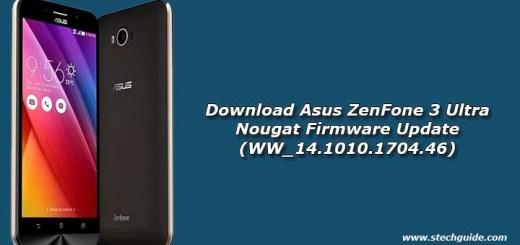 Download Asus ZenFone 3 Ultra Nougat Firmware Update (WW_14.1010.1704.46)