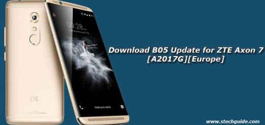 Download B05 Update for ZTE Axon 7 [A2017G][Europe]