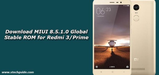 Download MIUI 8.5.1.0 Global Stable ROM for Redmi 3/Prime