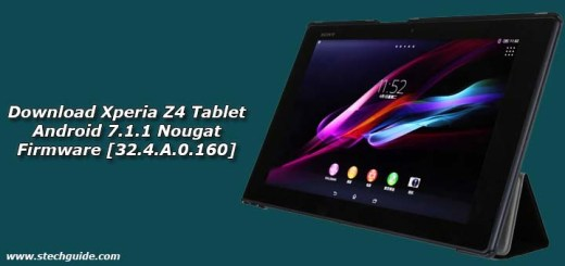 Download Xperia Z4 Tablet Android 7.1.1 Nougat Firmware [32.4.A.0.160]