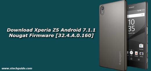 Download Xperia Z5 Android 7.1.1 Nougat Firmware [32.4.A.0.160]