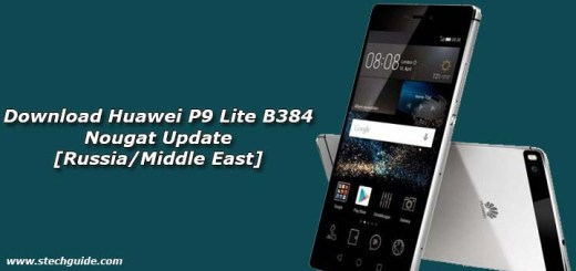 Download Huawei P9 Lite B384 Nougat Update