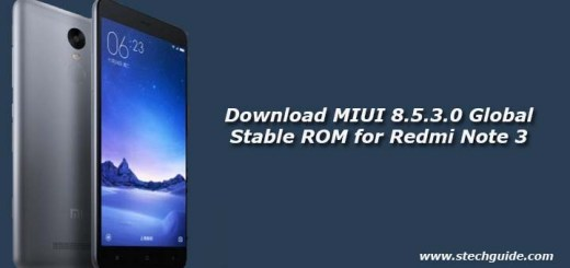 Download MIUI 8.5.3.0 Global Stable ROM for Redmi Note 3