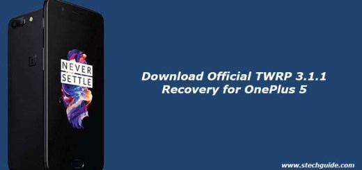 Download Official TWRP 3.1.1 Recovery for OnePlus 5