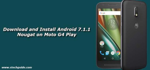 Download and Install Android 7.1.1 Nougat on Moto G4 Play