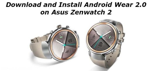 Download and Install Android Wear 2.0 on Asus Zenwatch 2