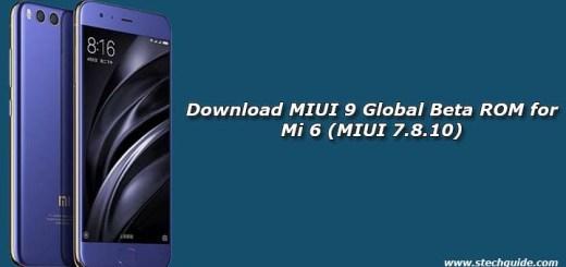 Download MIUI 9 Global Beta ROM for Mi 6 (MIUI 7.8.10)
