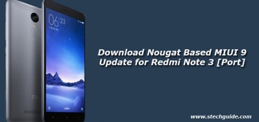 Download Nougat Based MIUI 9 Update for Redmi Note 3 [Port]