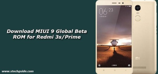 Download MIUI 9 Global Beta ROM for Redmi 3s/Prime