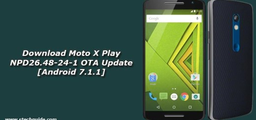Download Moto X Play NPD26.48-24-1 OTA Update [Android 7.1.1]