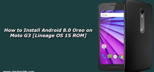 How to Install Android 8.0 Oreo on Moto G3 [Lineage OS 15 ROM]