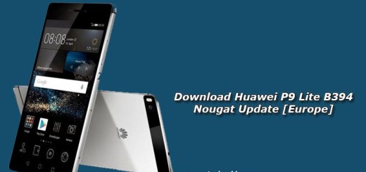 Download Huawei P9 Lite B394 Nougat Update [Europe]
