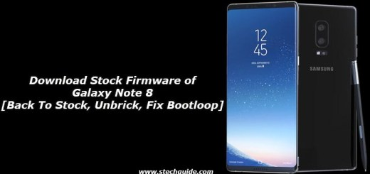 Download Stock Firmware of Galaxy Note 8 [Back To Stock, Unbrick, Fix Bootloop]