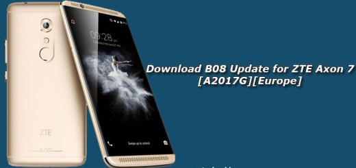 Download B08 Update for ZTE Axon 7 [A2017G][Europe]