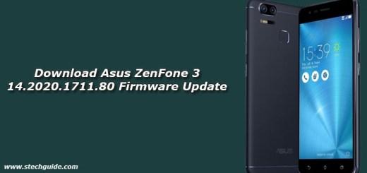 Download Asus ZenFone 3 14.2020.1711.80 Firmware Update