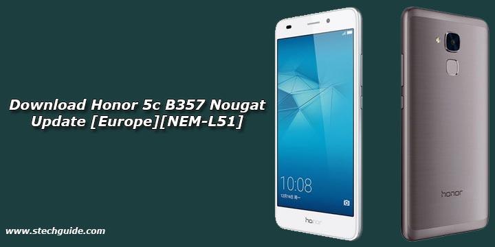 Download Honor 5c B357 Nougat Update [Europe][NEM-L51]