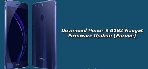 Download Honor 9 B182 Nougat Firmware Update [Europe]