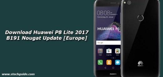 Download Huawei P8 Lite 2017 B191 Nougat Update [Europe]