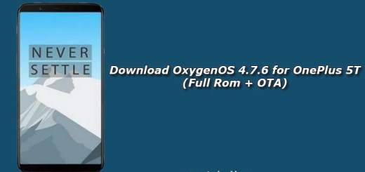 Download OxygenOS 4.7.6 for OnePlus 5T (Full Rom + OTA)