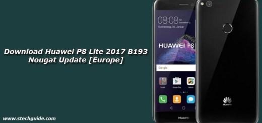 Download Huawei P8 Lite 2017 B193 Nougat Update [Europe]