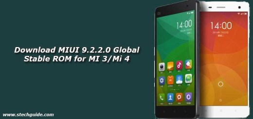Download MIUI 9.2.2.0 Global Stable ROM for MI 3/Mi 4
