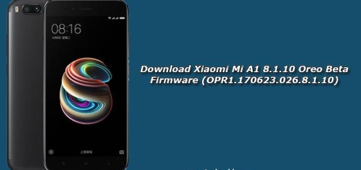 Download Xiaomi Mi A1 8.1.10 Oreo Beta Firmware (OPR1.170623.026.8.1.10)