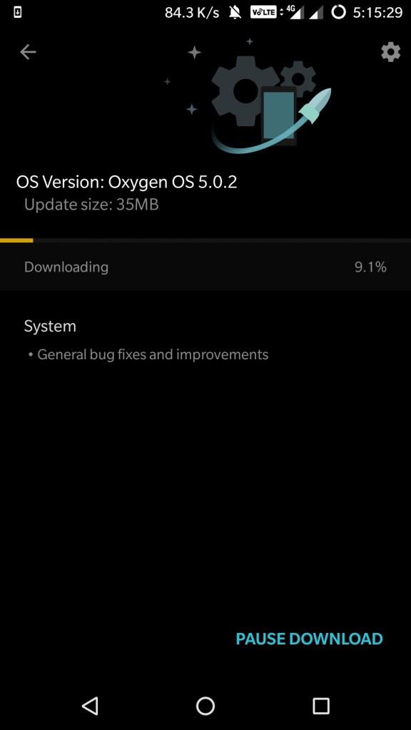 OxygenOS 5.0.2