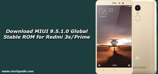 Download MIUI 9.5.1.0 Global Stable ROM for Redmi 3s/Prime
