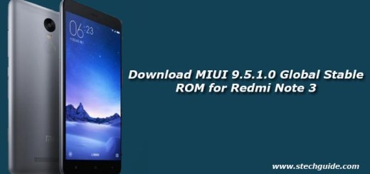 Download MIUI 9.5.1.0 Global Stable ROM for Redmi Note 3