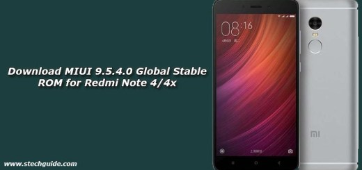 Download MIUI 9.5.4.0 Global Stable ROM for Redmi Note 4/4x