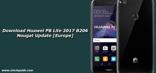 Download Huawei P8 Lite 2017 B206 Nougat Update [Europe]