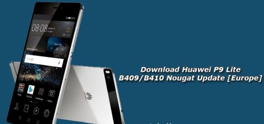 Download Huawei P9 Lite B409/B410 Nougat Update [Europe]