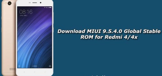 Download MIUI 9.5.4.0 Global Stable ROM for Redmi 4/4x