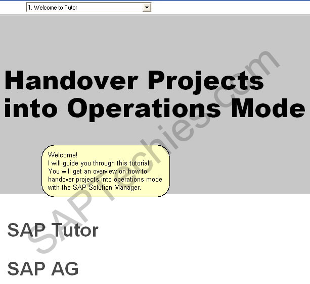 How to handover projects in to operations mode with the