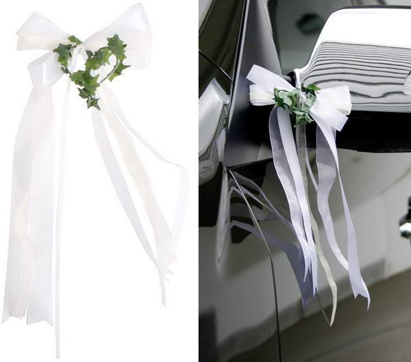 Autoschleifen fr die Hochzeit nach Anleitung selber basteln