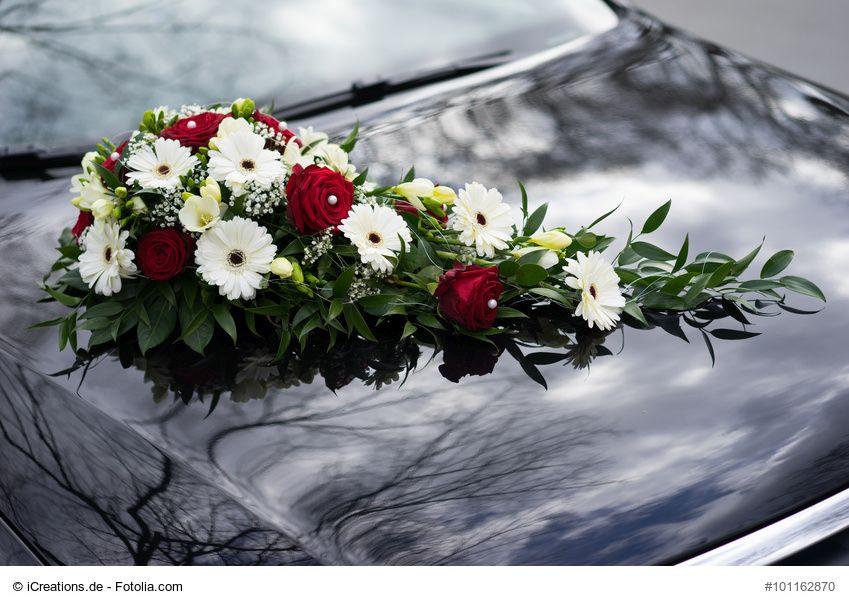 AutoBlumengesteck fr die Hochzeit selber machen
