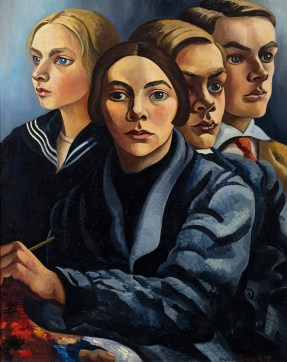 Charley Toorop, Self portrait with three children, 1929. Collection Groninger Museum. © c/o Pictoright Amsterdam 2019