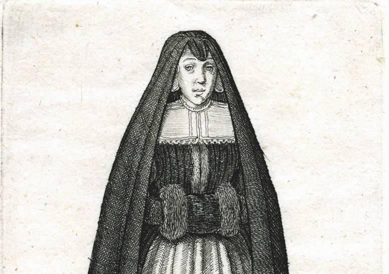W. Hollar, Hollandse vrouw, 1643. Universiteit Bibliotheek Leiden