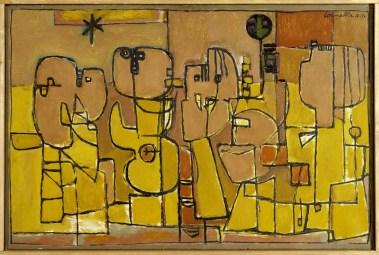 Corneille, Habitants du désert, 1952, bruikleen Rijksdienst voor het Cultureel Erfgoed