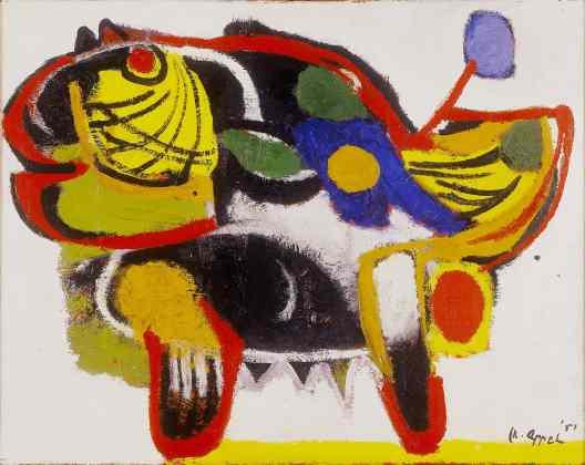 Karel Appel, Oerbeest, 1951, collectie Stedelijk Museum Schiedam