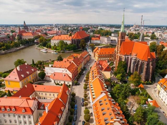 Wroclaw Kathedraal Aerial