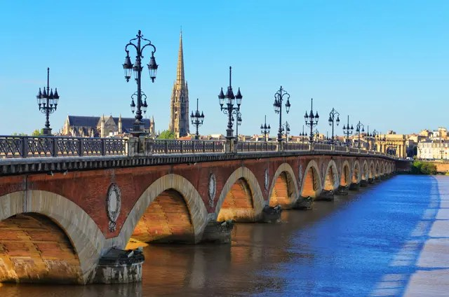 Bordeaux brug St Michelkathedraal