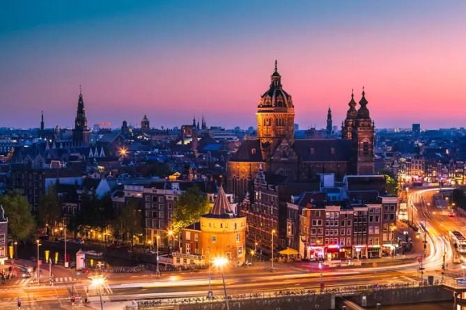 Amsterdam Kerk Avond
