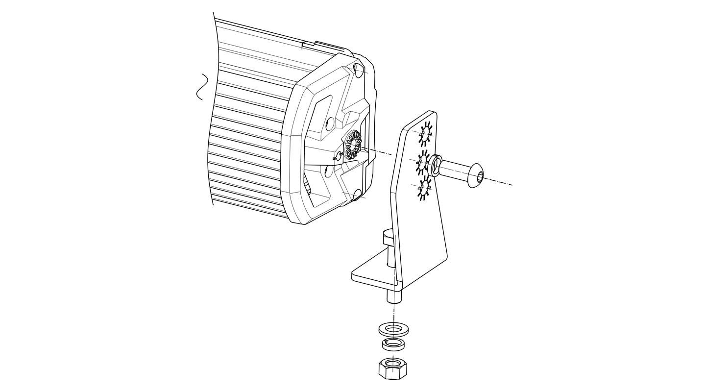 52 inch Osram LED LIGHT BAR 100 LED Double Row