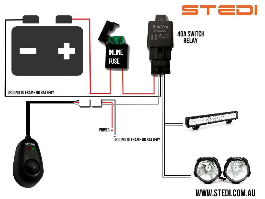 Wiring Diagram For Led Light Bar – powerking.co